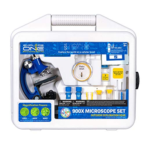 Explore ONE Beginner Microscope for Kids - 100X, 400X & 900X Magnification