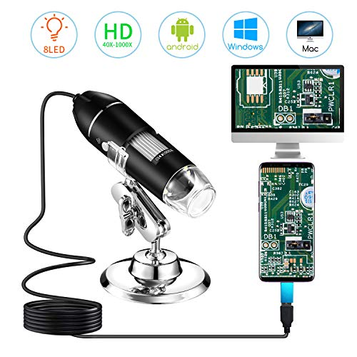 STPCTOU 1000x Magnification USB Microscope