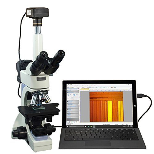 OMAX 40X-2000X USB3 5MP Infinity Microscope + Transmitted/Reflected Light