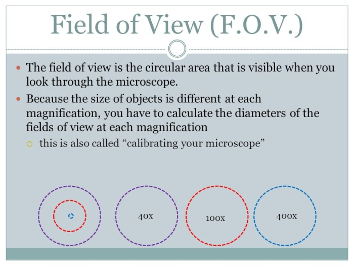 Field of View microscopy