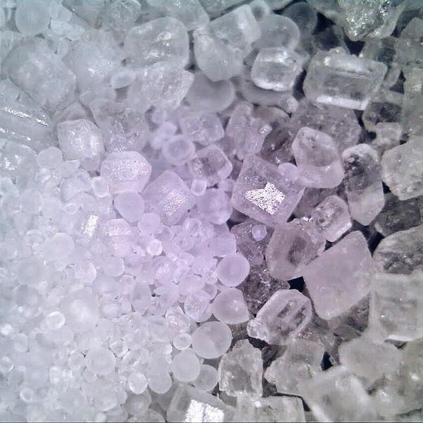 observe salt under the microscope