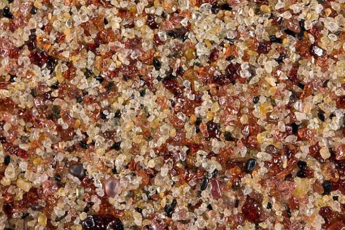 microscope image of sand particles